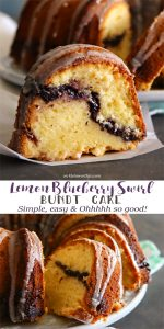 Lemon Blueberry Swirl Bundt Cake