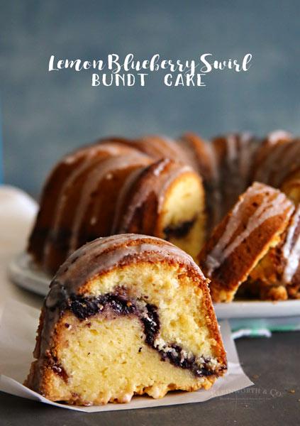 Lemon Blueberry Swirl Bundt Cake