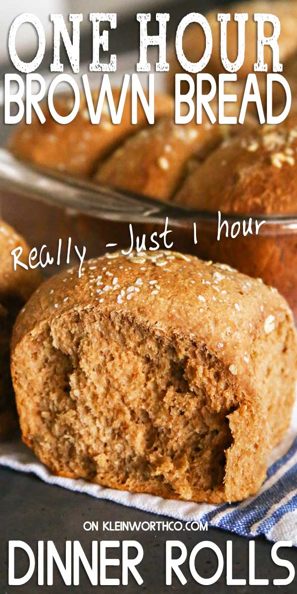 One Hour Brown Bread Dinner Rolls