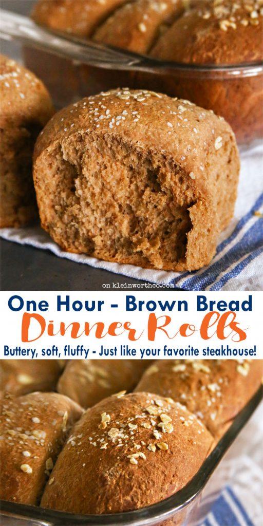 One Hour Brown Bread Dinner Rolls