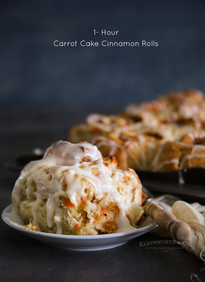 One Hour Carrot Cake Cinnamon Rolls