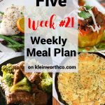 Thrive at Five Meal Plan Week 21