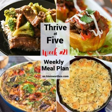 Thrive at Five Meal Plan Week 21