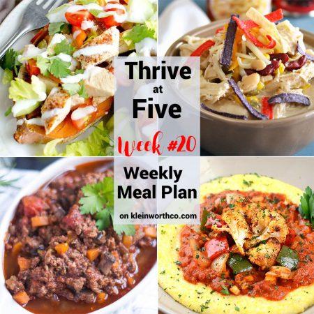 Thrive at Five Meal Plan Week 20