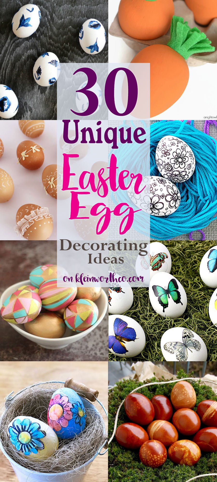 30 Unique Easter Egg Decorating Ideas - Kleinworth & Co