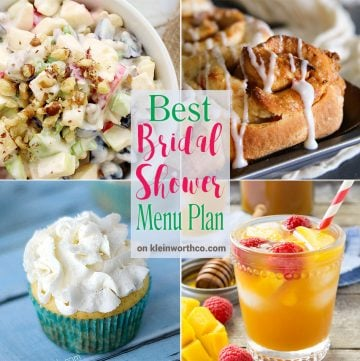 Best Bridal Shower Menu Plan