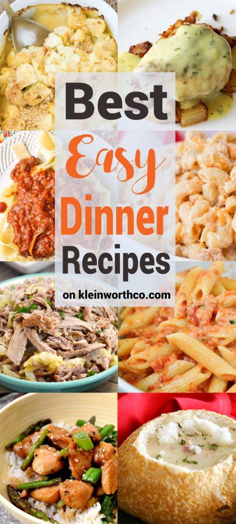 Best Easy Dinner Recipes