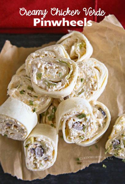 Creamy Chicken Verde Pinwheels
