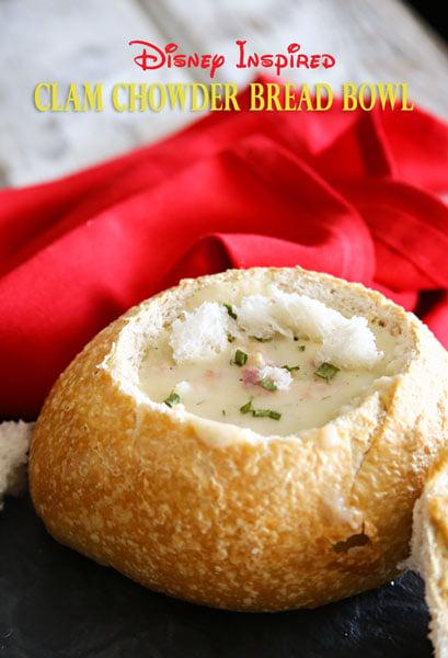 Disney Inspired Clam Chowder Bread Bowl
