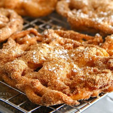 Easy Churro Funnel Cake