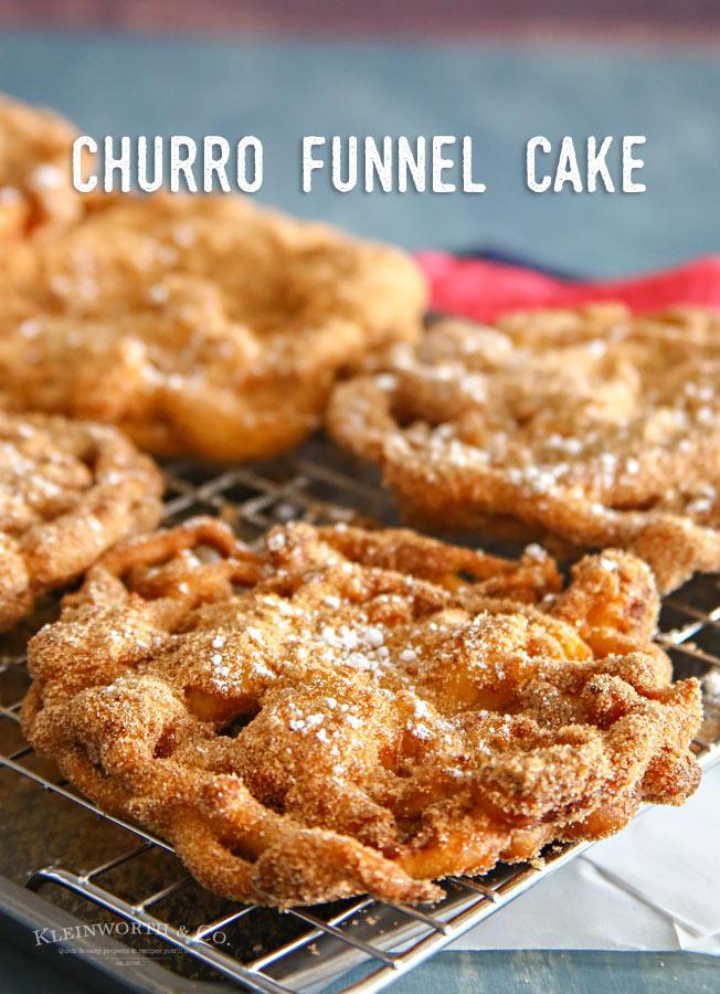Easy Churro Funnel Cake