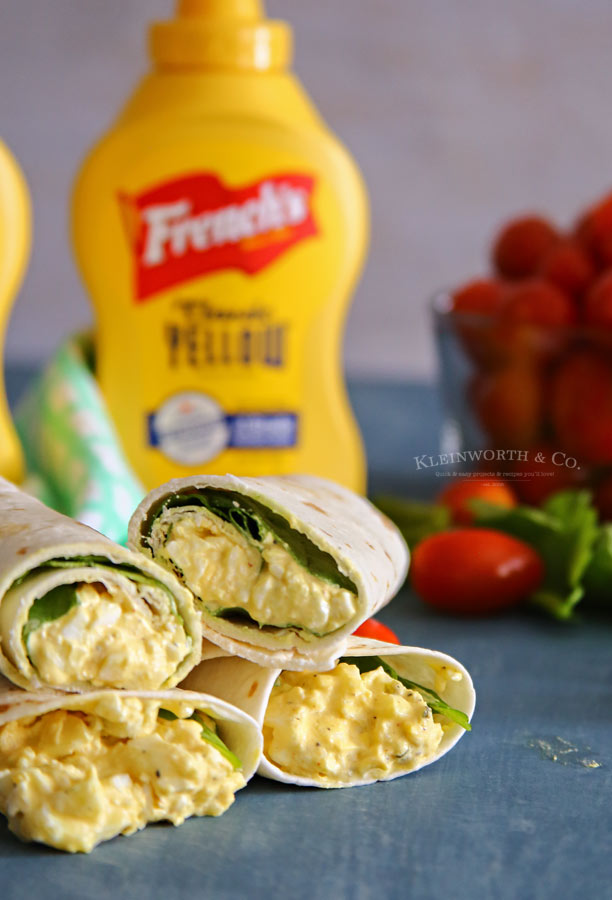 Egg Salad Spinach Wrap