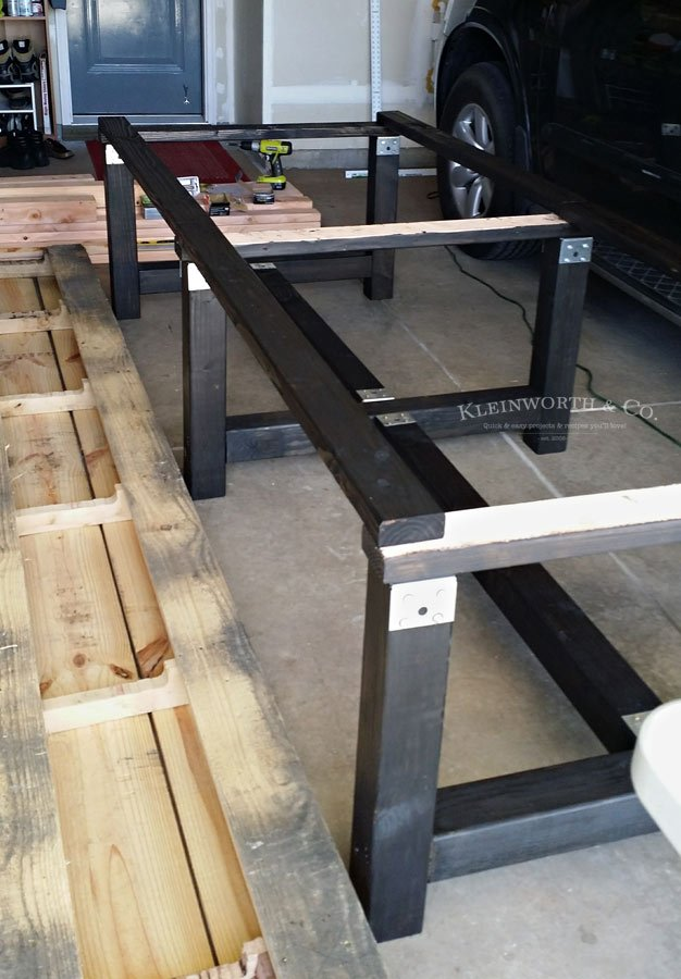 Frame for DIY Pallet Outdoor Dining Table