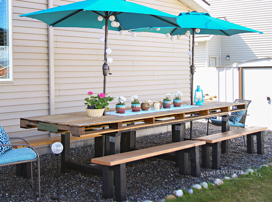 Spring Outdoor Pallet Table Decor Kleinworth Amp Co