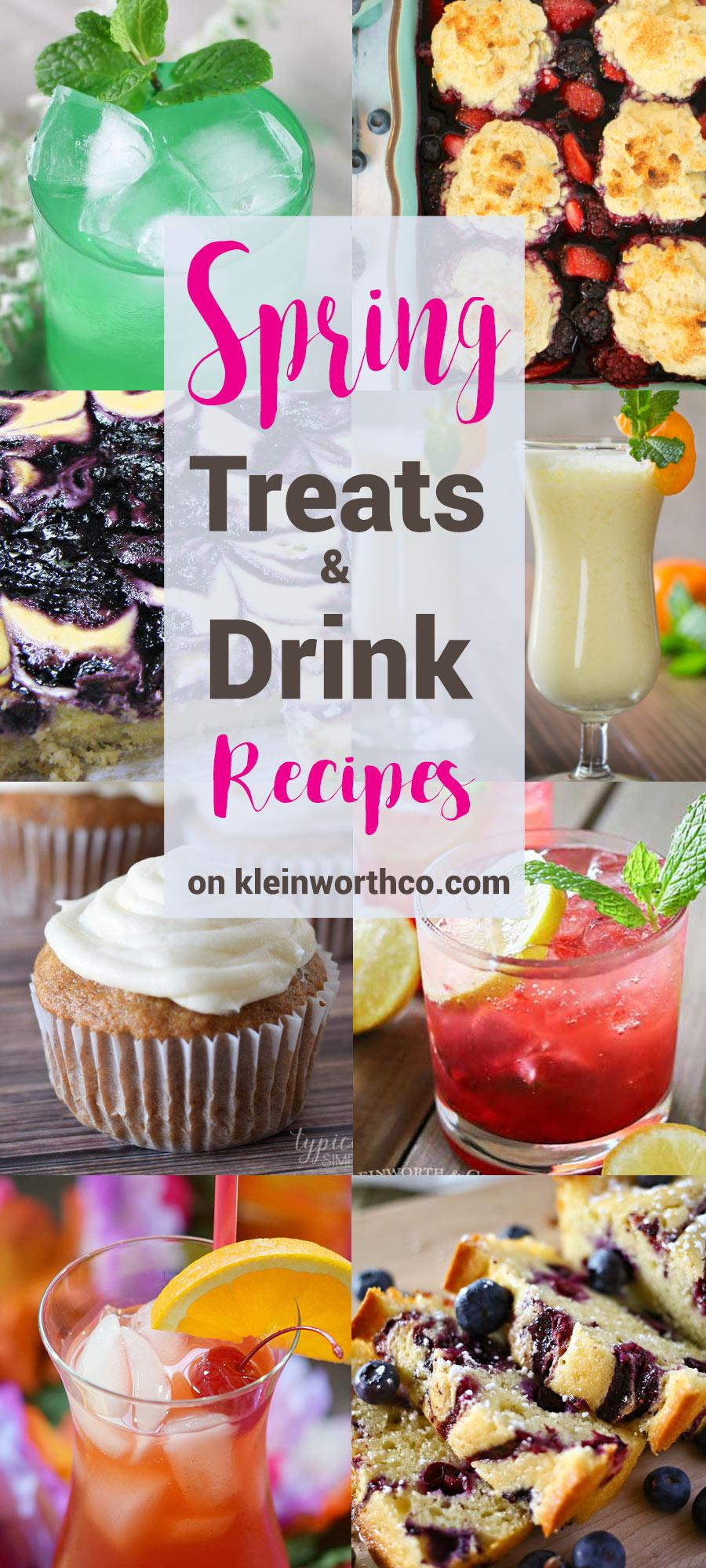 Spring Treats & Drink Recipes