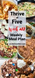 Thrive at Five Meal Plan Week 22