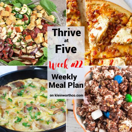 Thrive at Five Meal Plan Week 22