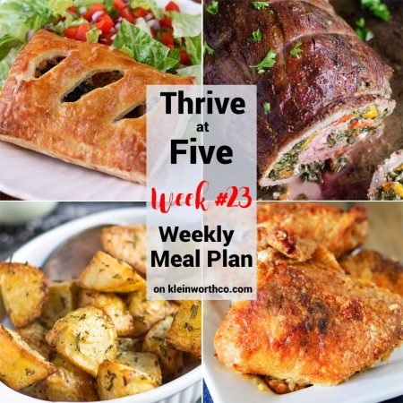 Thrive at Five Meal Plan Week 23
