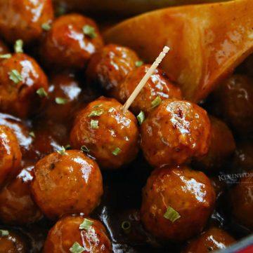 20-Minute Pepper Jelly Glazed Meatballs
