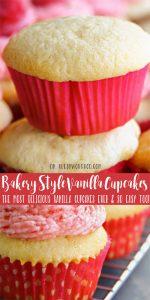 Best Bakery-Style Vanilla Cupcakes recipe