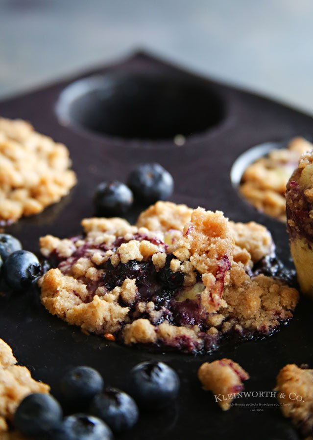 Recipe for the Best Blueberry Streusel Muffins
