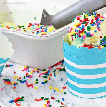Birthday Cake Ice Cream with sprinkles