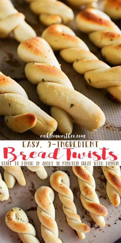 Easy 3-Ingredient Bread Twists