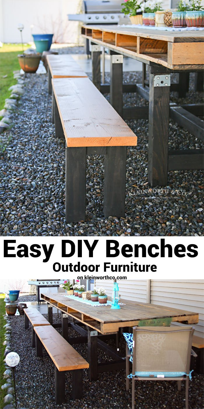 Easy DIY Benches - Outdoor Furniture