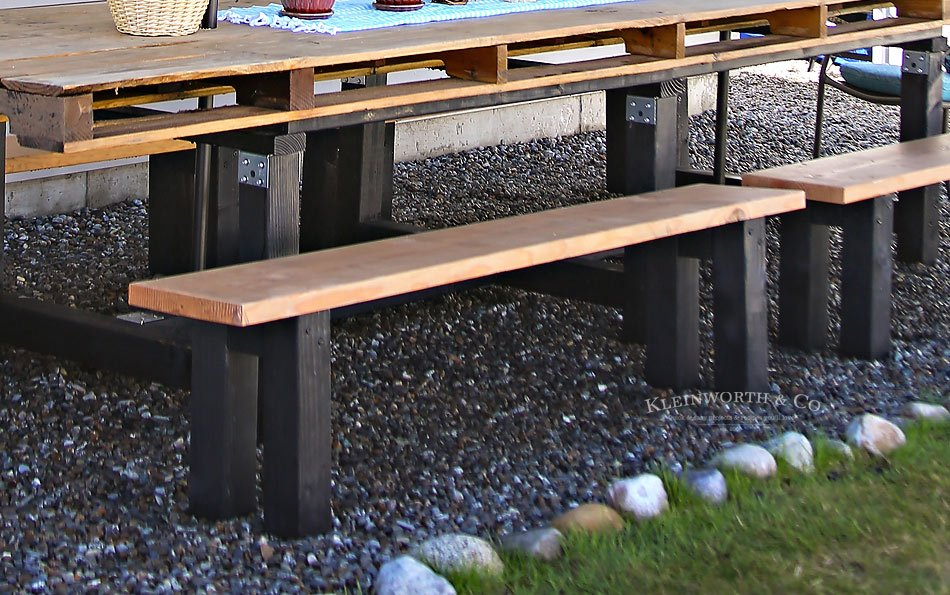 easy diy benches outdoor furniture kleinworth co