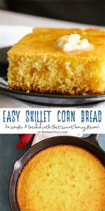 Easy Skillet Cornbread Recipe