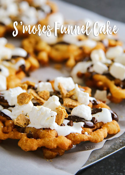 Easy S'mores Funnel Cake