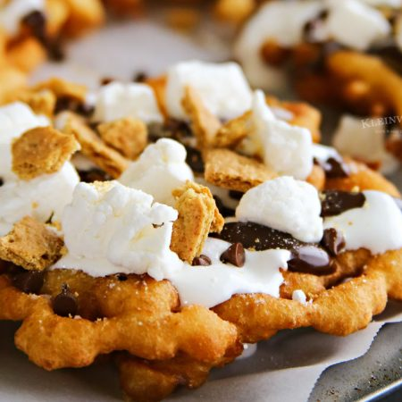 Easy Smores Funnel Cake