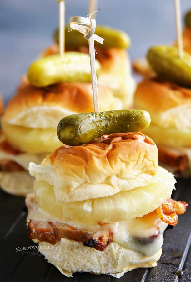 Hawaiian Havarti Pork Sliders recipe