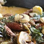 Spinach Mushroom Filet Mignon in Creamy White Wine Sauce
