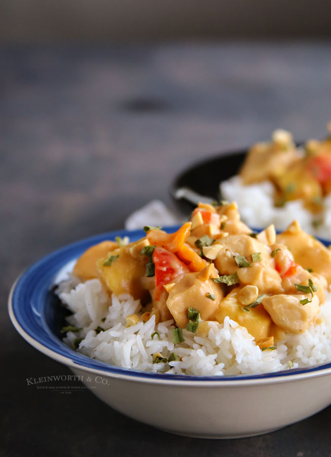 Dinner recipe for Slow Cooker Thai Pineapple Peanut Chicken