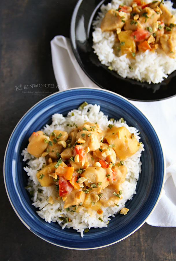 How to make Slow Cooker Thai Pineapple Peanut Chicken