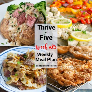 Thrive at Five Meal Plan Week 25