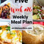 Thrive at Five Meal Plan Week 26