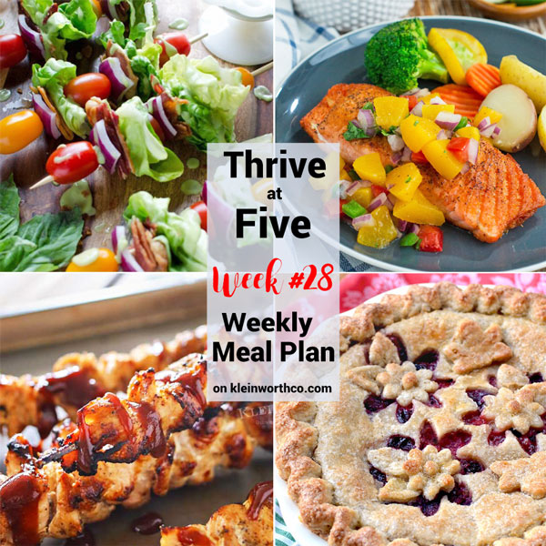 Thrive at Five Meal Plan Week 28