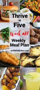 Thrive at Five Meal Plan Week 27
