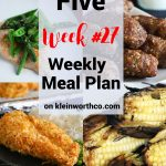 Thrive at Five Meal Plan Week 27