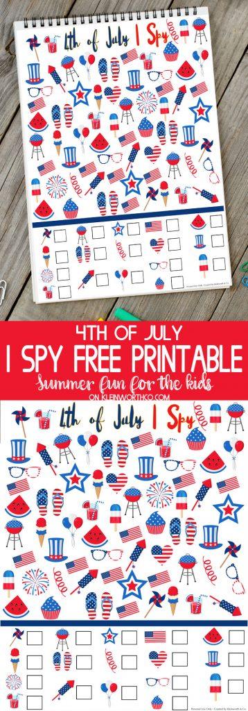 4th of July I Spy Printable- Best Summer Printables for Kids