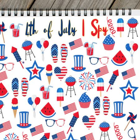4th of July I Spy Printable