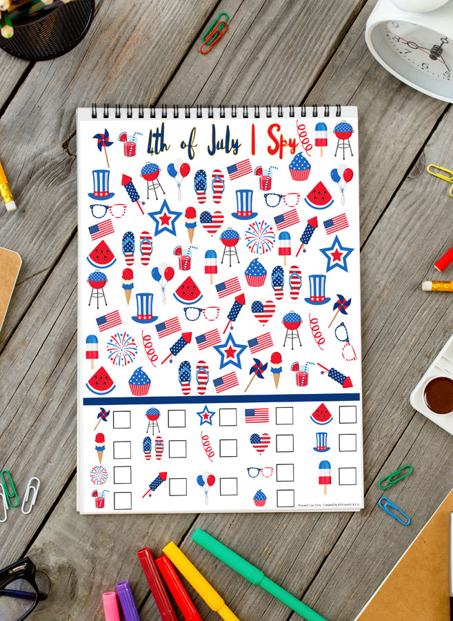 4th of July I Spy Printable- Fun printables for kids