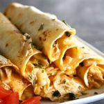 Baked Salsa Chicken Taquitos