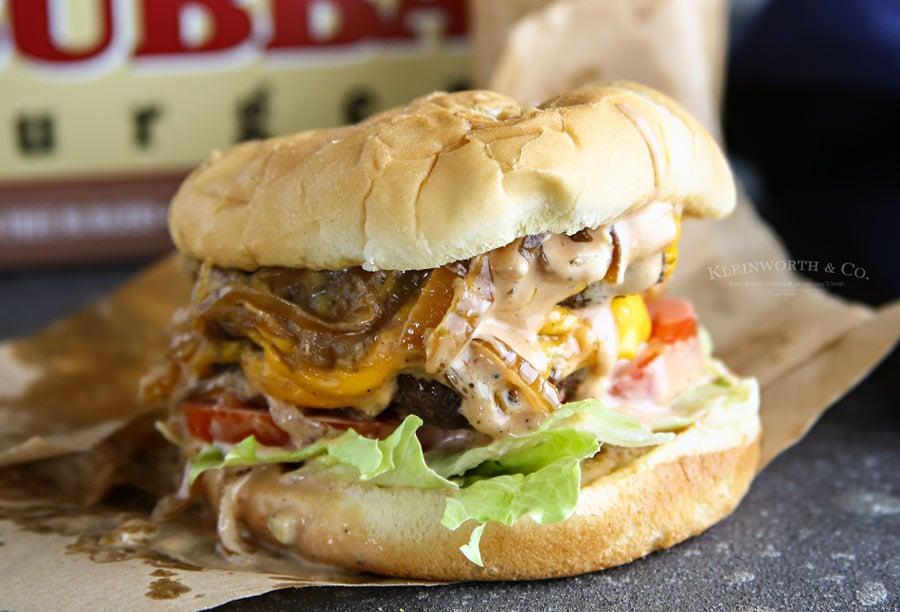 Best Burger Sauce on a Double Caramelized Onion Burger