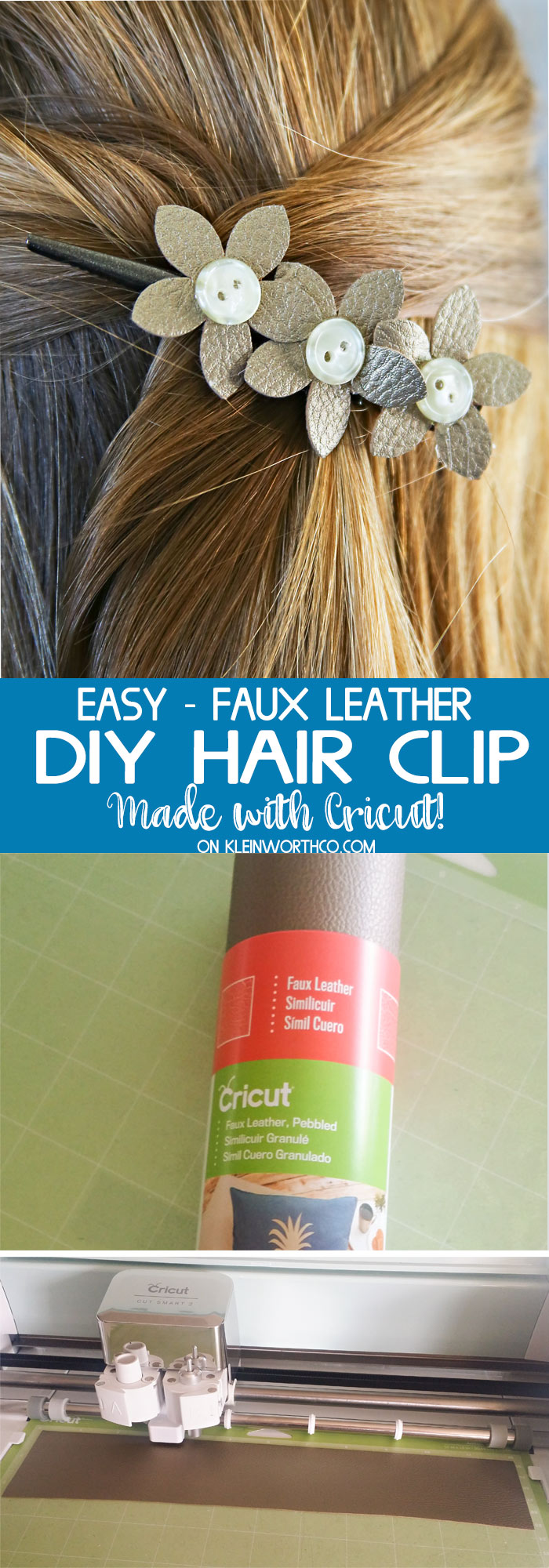 How to make a Leather Hair Clip- Awesome DIY Projects Made with Cricut