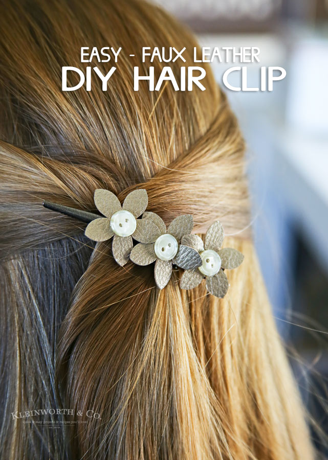 DIY Hair clip- Awesome DIY Projects Made with Cricut