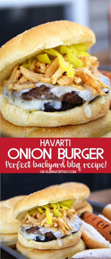 Havarti Onion Burger Recipe