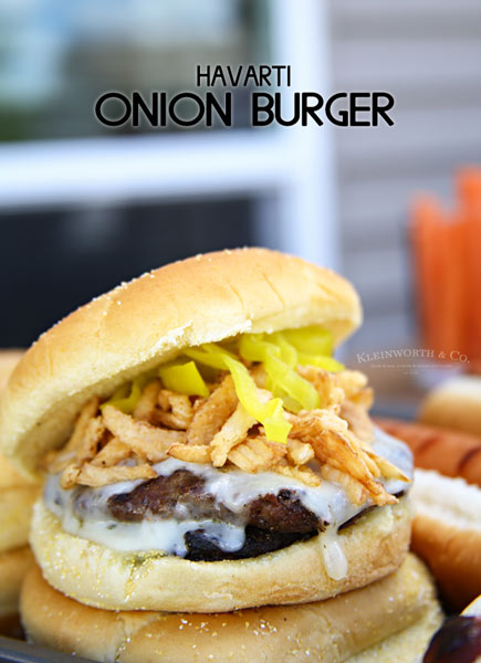Havarti Onion Burger